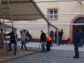 Aufbau Schlosshof-Zelt (10.01.2015)
