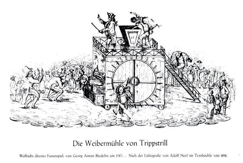 Weibermühle  - Lithografie von Adolf Neef