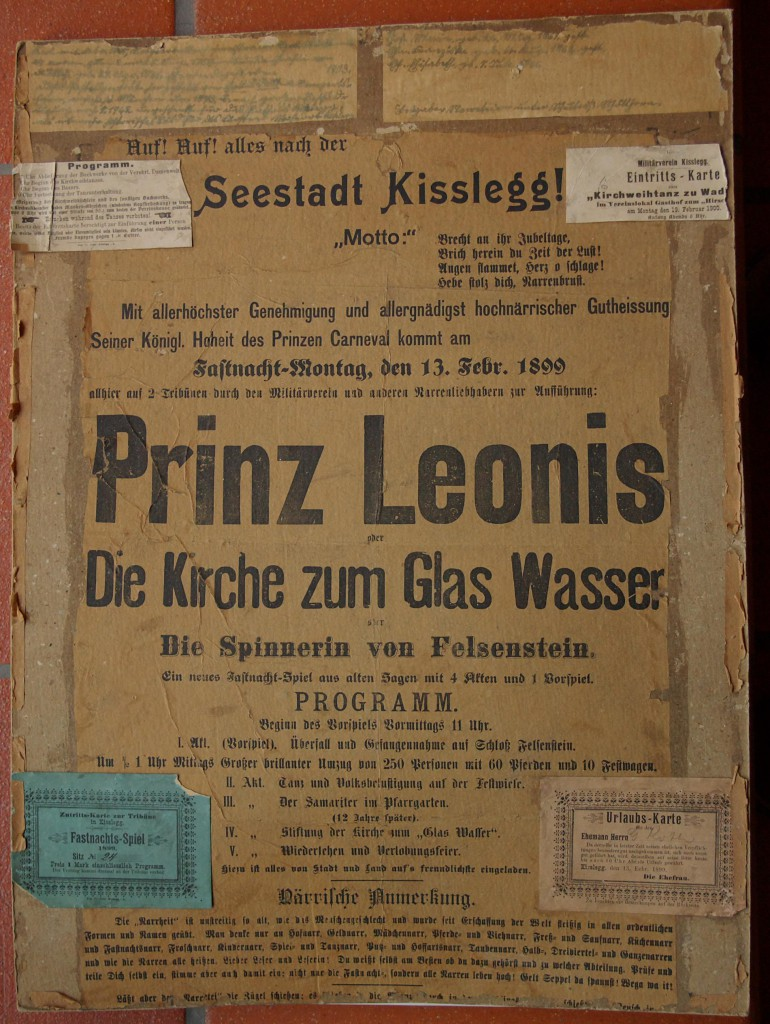Fasnetsspiel-Plakat von 1899